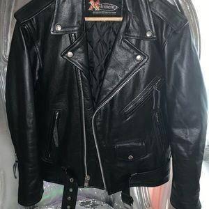 Real Leather Biker Jacket/ coat